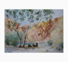 Afternoon Shade Watercolour Painting  Baby Tee