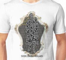 Sherlock Holmes Framed. Unisex T-Shirt