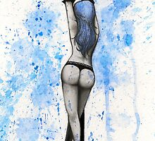 Pole Dancing Series - Blue by Jennifer Migita