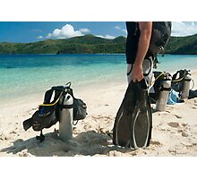 Man going scuba diving Photographic Print