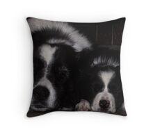 Sleeping Menaces Throw Pillow