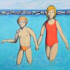 Me and my sister at sea by federico cortese