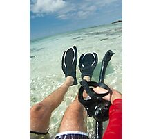 Man with snorkeling equipment Photographic Print