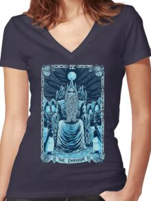 The Emperor Women's Fitted V-Neck T-Shirt