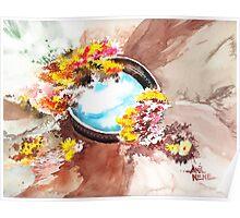 Flowers n sky Poster