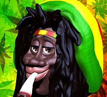 Rastaman Marijuana Caricature 3d by BluedarkArt