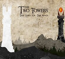 The Two Towers by Watercolorsart