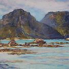 Lord Howe Island - morning view of the mountains by Terri Maddock