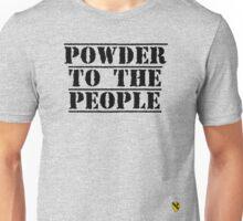 Powder to the people - Black - Rave Veteran Unisex T-Shirt