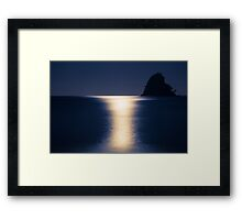 Moon reflections Framed Print