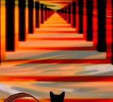 black cat galleries Sticker