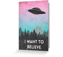 I want to believe UFO1 Greeting Card