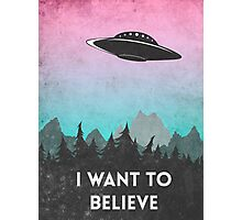 I want to believe UFO1 Photographic Print