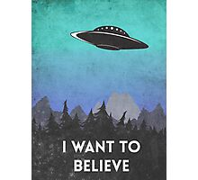 I want to believe UFO2 Photographic Print