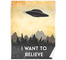 I want to believe UFO3 Poster