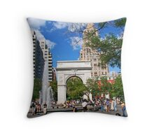 Washington Square, Saturday, New York Throw Pillow