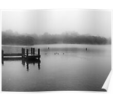 Wentworth Falls Lake in Mist Poster
