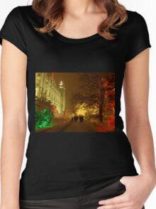 Christmas, Salt Lake City Women's Fitted Scoop T-Shirt