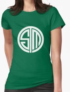 Team SoloMid Logo (WHT) Womens Fitted T-Shirt