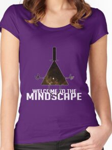 Welcome to The Mindscape -Golden Women's Fitted Scoop T-Shirt