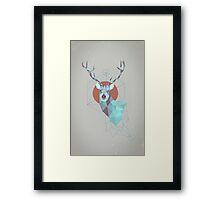 Edgy Deer Framed Print