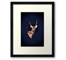 Dark Deer Framed Print