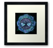 Planet Earth Circle of Life Framed Print