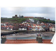 whitby cottages Poster