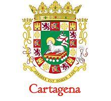 Cartagena Shield of Puerto Rico Photographic Print