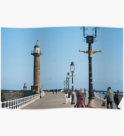 whitby stone pier Poster