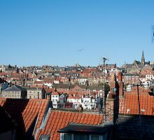 whitby rooftops by photoeverywhere