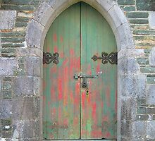 Irish Country Church Door by Kathleen Brant