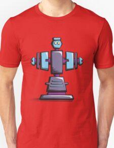 Retro robot – old blue Unisex T-Shirt