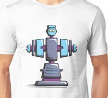Retro robot – old blue Unisex T-Shirt