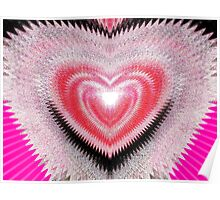 Shimmer Heart Poster