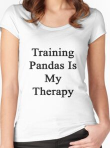Training Pandas Is My Therapy  Women's Fitted Scoop T-Shirt