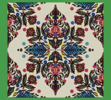 Bright Folk Art Pattern - hot pink, orange, blue & green Kids Clothes