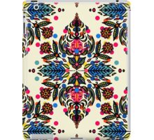 Bright Folk Art Pattern - hot pink, orange, blue & green iPad Case/Skin