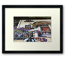 Yeah, I'm puzzled too!  This entire area was all lawn yesterday! Framed Print