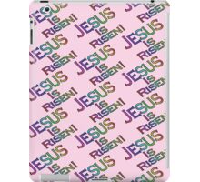 Jesus Is Risen! (rainbow, pink) iPad Case/Skin