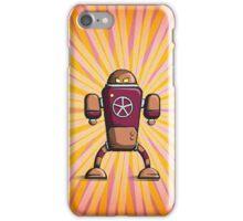 Retro robot – old orange iPhone Case/Skin