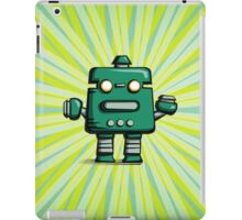 Retro robot – old green iPad Case/Skin