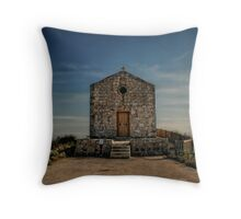 Malta - Chapel Dingli Cliffs Throw Pillow