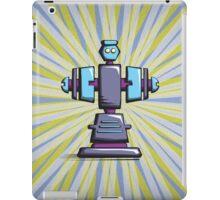 Retro robot – old blue iPad Case/Skin