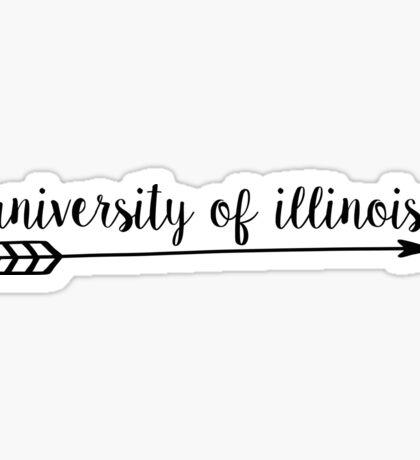 University of Illinois Arrow Sticker