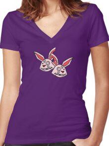 Mushy Snugglebites & Felicia Sexopants- Borderlands 2 Women's Fitted V-Neck T-Shirt