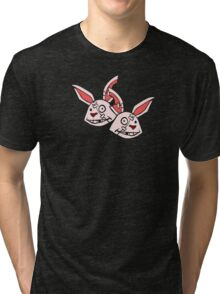 Mushy Snugglebites & Felicia Sexopants- Borderlands 2 Tri-blend T-Shirt
