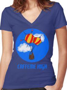 Caffeine High T-Shirt Women's Fitted V-Neck T-Shirt