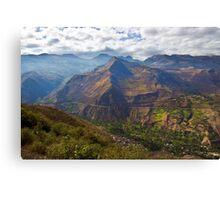 Traveling to Banos-Ambato, Ecuador Canvas Print
