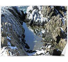 Spouting Rock Reflection Poster